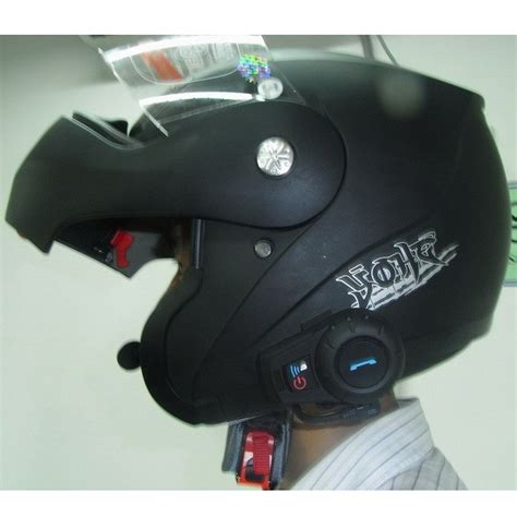 Headset Helm interphone headset helm motor bluetooth 500 meter fdc 01 black jakartanotebook