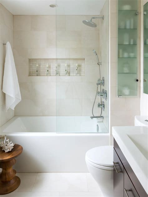 Small Bathrooms With Bath And Shower Small Bathroom Decorating Ideas Hgtv