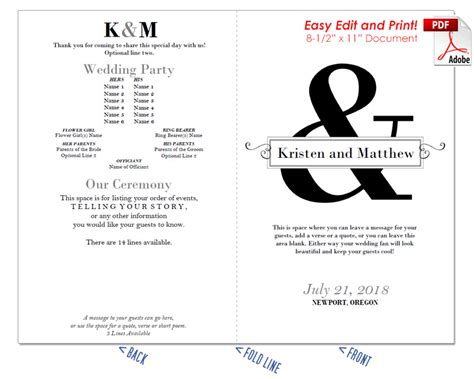 Wedding Text Box by Ersand With Text Box Wedding Program Fan Cool Colors
