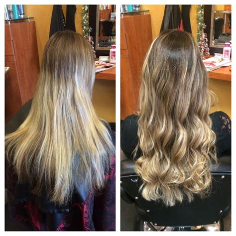 ombre hair growing out grown out highlights turned into a beautiful ombr 233 by
