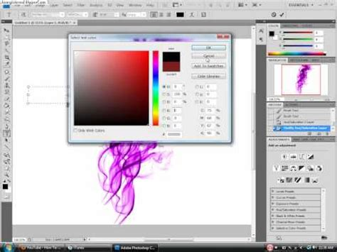 reset brush tool photoshop how to change color of smoke brush in photoshop youtube