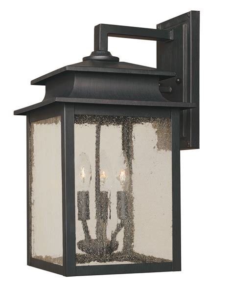 landscape lighting home depot world imports sutton collection rust 3 light 9 in outdoor