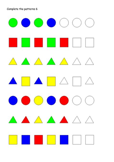 continuing patterns ks1 shape pattern worksheets 187 repeating pattern worksheets ks1