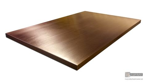 Copper Table Top by Copper Table Top With A Brushed Finish Custom Made To Order