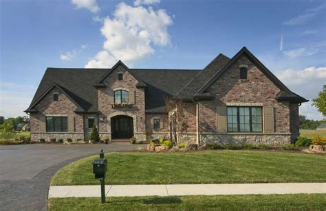 traditional brick home front home design