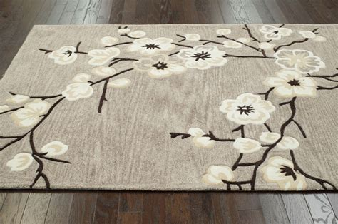 Cherry Blossom Area Rug Country Floral Contemporary Oatmeal Cherry Blossom Area Rug Carpet Durable Ebay