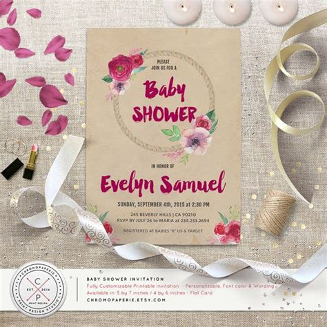 Sprinkle Baby Shower Etiquette by Boho Baby Shower Invitation Flower Wreath By Chromopaperie