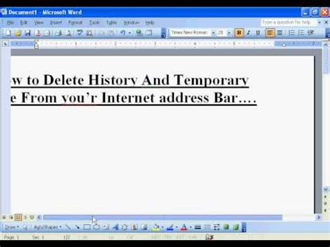 How To Delete Search History From Address Bar How To Delete History And Temporary File From Your