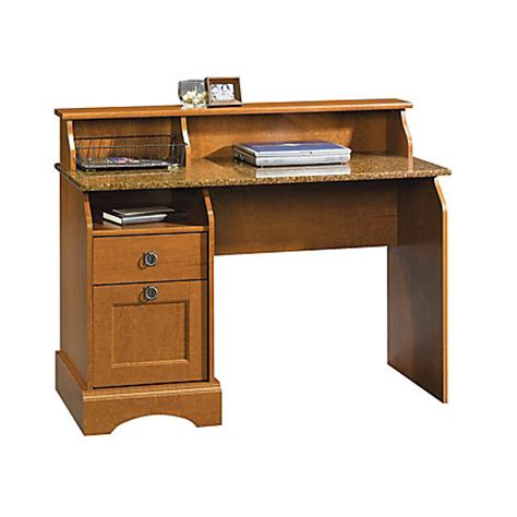 Office Depot Sauder Desk Sauder Graham Hill Wood Desk Cherry By Office Depot Officemax