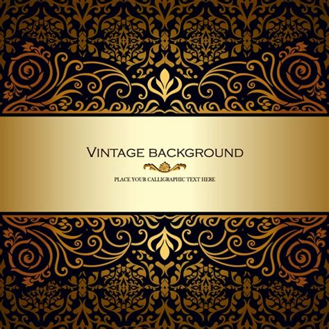 gold pattern eps gold retro graphics collection my free photoshop world