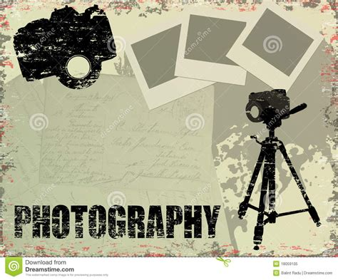 retro photos vintage photography poster stock vector image of