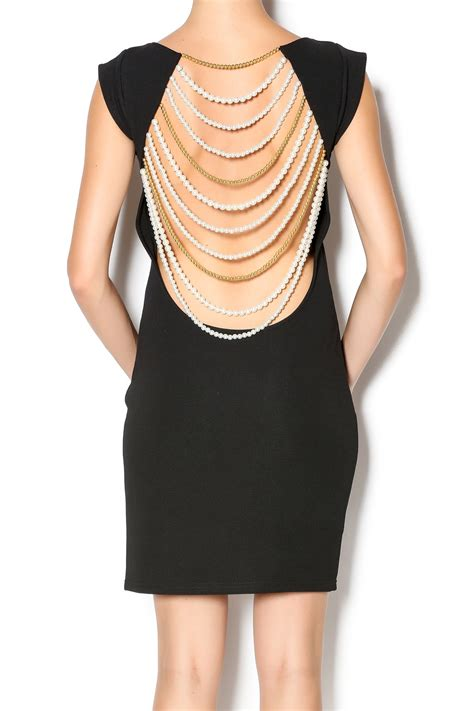 how to drape a dress xtaren pearl drape back dress from manhattan by dor l dor