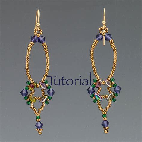 beaded earrings tutorial superduo beadwoven earrings tutorial erte digital