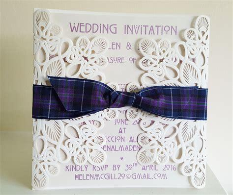 Wedding Stationery Themes by Scottish Themed Wedding Invitations Motavera