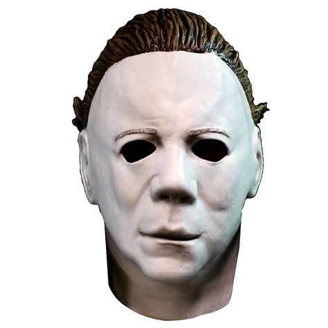 mike myers halloween face michael myers mask with hair halloween ii party city