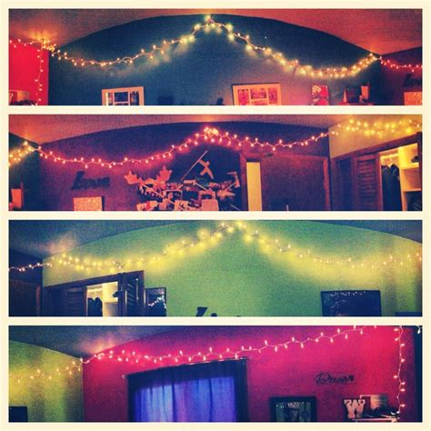 christmas lights in room college bound pinterest