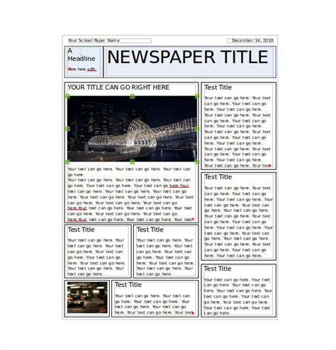 student newspaper template 8 classroom newspaper templates free sle exle