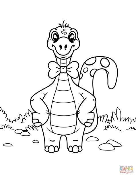coloring page bow tie dinosaur wearing bow tie coloring page free printable