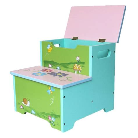 End Tables Amazon Kids Painted Flower Step Stool Ladder W Storage Box Buy