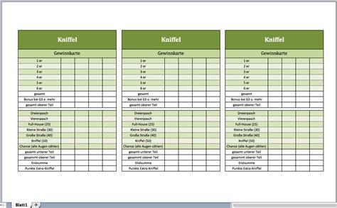 Word Vorlage Spielkarten Kniffel Vorlage Excel Vorlagen F 252 R Jeden Zweck