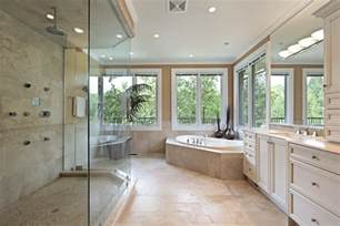 Large Shower Baths elegant bathroom design with simple palette of cream and white