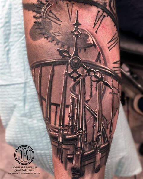 staircase tattoo staircase and clock by jose perez jr tattoonow