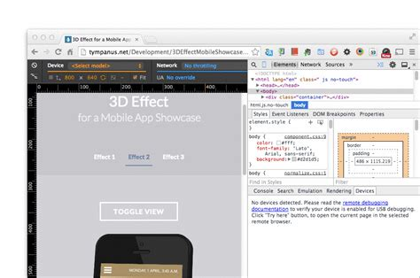 web layout mode web design responsivo com devtools device mode