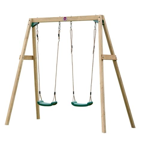 buy swings plum kid s wooden playground double swing set buy swings