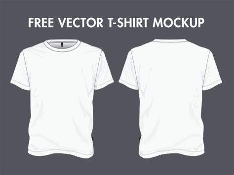 free t shirt vector template 50 mockups e templates para camisetas clube do design