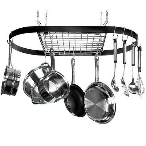 Ceiling Rack For Pots And Pans by Classicor 12 Hook Ceiling Mounted Pot Rack Iron Walmart