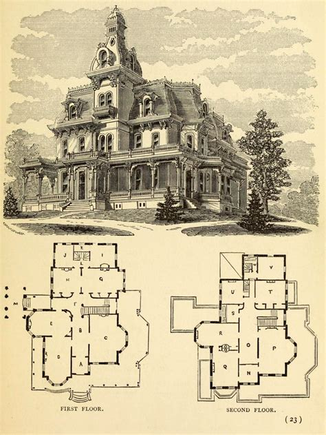 Victorian House Plan by Old Architectural Drawings Arch Student Com