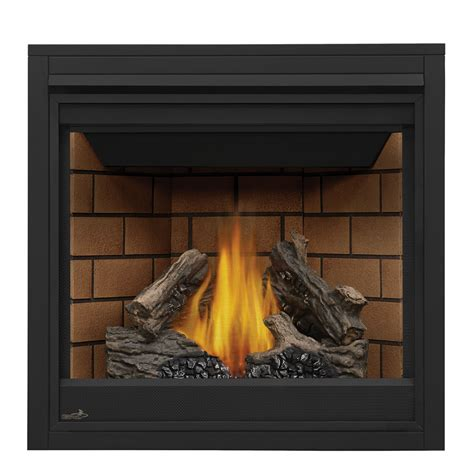 lowes gas fireplace insert shop continental 35 in direct vent black gas
