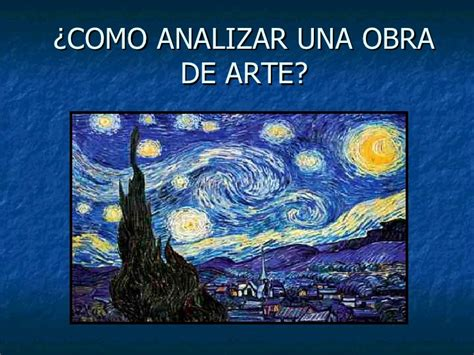 la obra de arte 8493837520 como analizar una obra de arte