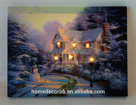 flickering light canvas wholesale wall art with light up canvas paintings stretched and
