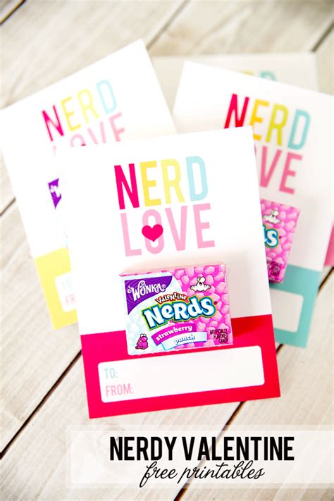 nerdy valentines nerdy s day free printables frog prince paperie
