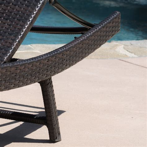 ergonomic chaise lounge eliana 2pc ergonomic wicker outdoor chaise lounge chairs