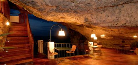 cave restaurant side of a cliff italy an amazing restaurant in a cliff wall on the adriatic sea