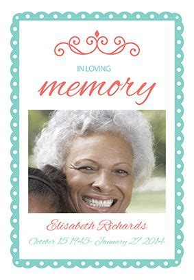 in loving memory cards template 1000 images about memorial announcements on