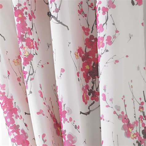 cherry blossom drapes tokyo cherry blossom lined eyelet curtains floral tree