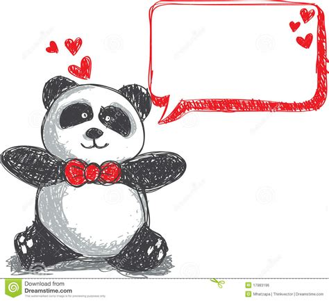 doodle panda panda doodle royalty free stock image image 17983196