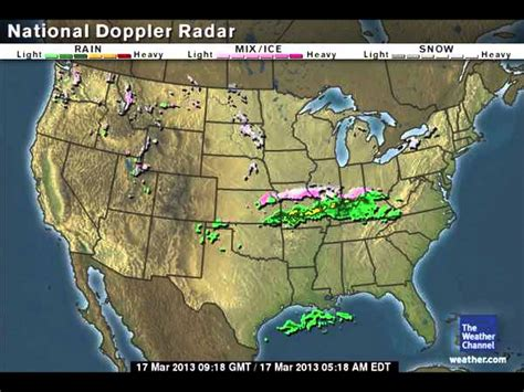 weather radar maps us weather doppler radar map march 16th to march 17th