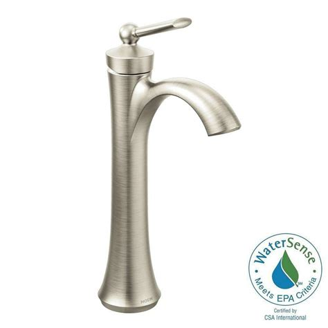 moen kitchen faucet brushed nickel moen wynford single hole single handle vessel bathroom