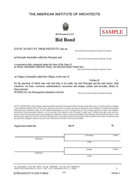 Contract Bidding Letter What Is A Bid Bond And Why Is It Required