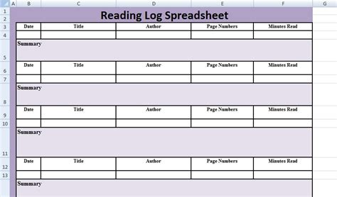 reading log template daily reading log templates reading