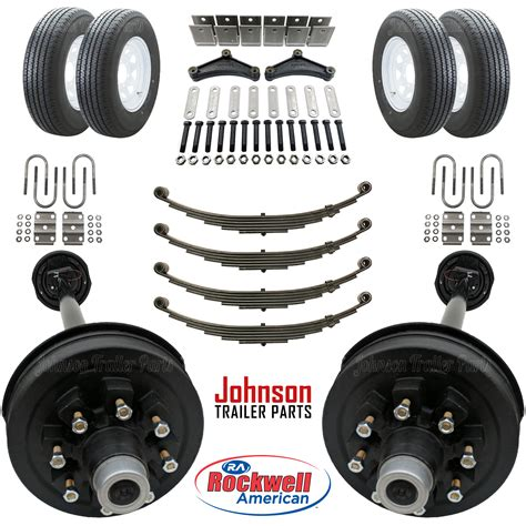 boat trailer axles with electric brakes tandem 7 000 lb electric brake trailer axle kit w wheels