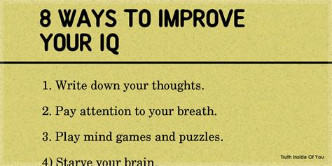 Ways To Improve Your Health Today by 8 Ways To Improve Your Iq Inside Of You