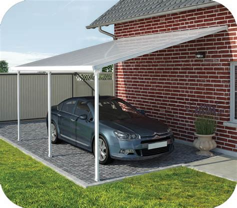 wood car porch palram 13x26 feria attached metal carport kit hg9141