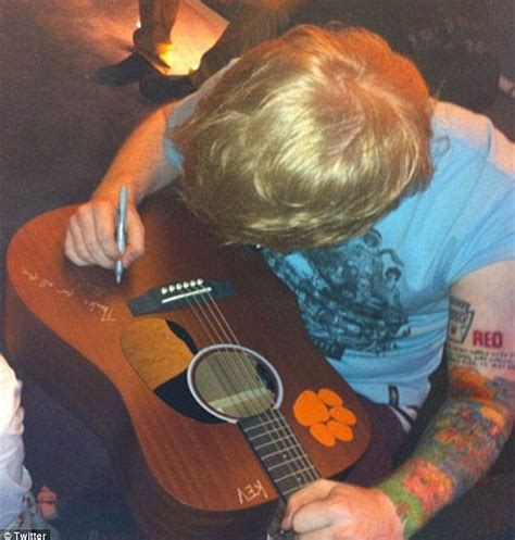 ed sheeran unveils his 60 elaborate tattoos daily mail ed sheeran and taylor swift spark romance rumours after