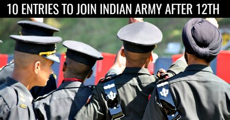 Join Militaty After Mba by 10 Entries In 2018 To Join Indian Army After 12th