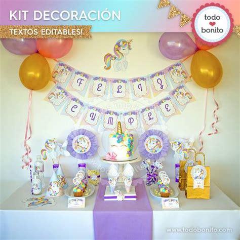 como decorar letras de madera de unicornio unicornio kit imprimible decoraci 243 n de fiesta todo bonito